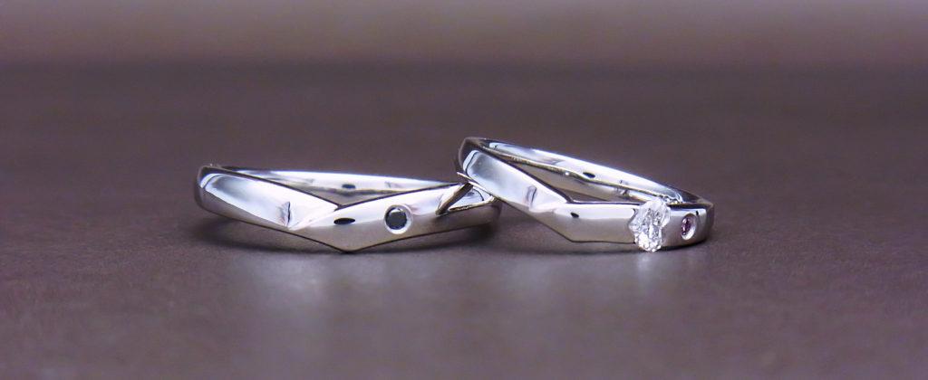 ダイヤモンドマリッジリングハート