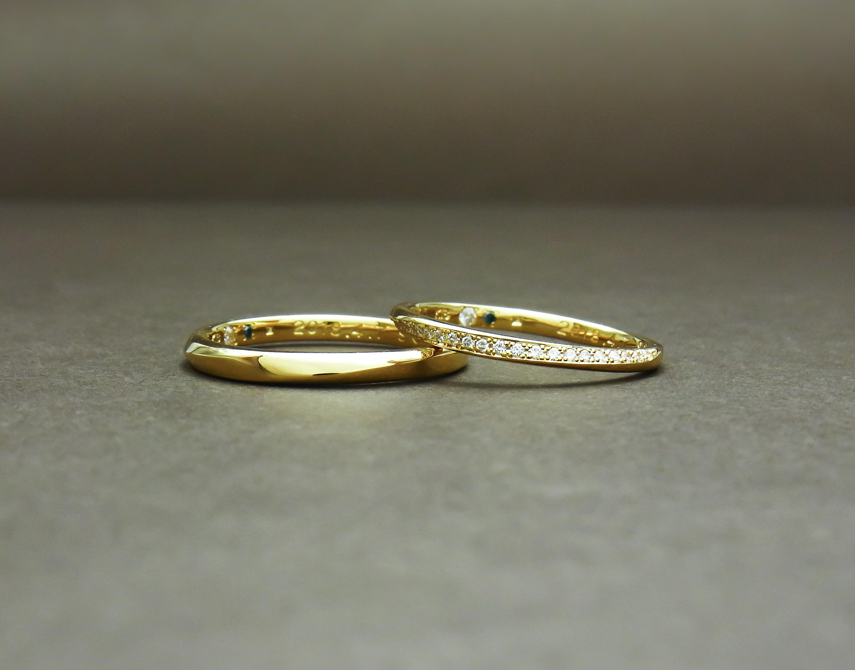 イエローゴールド結婚指輪