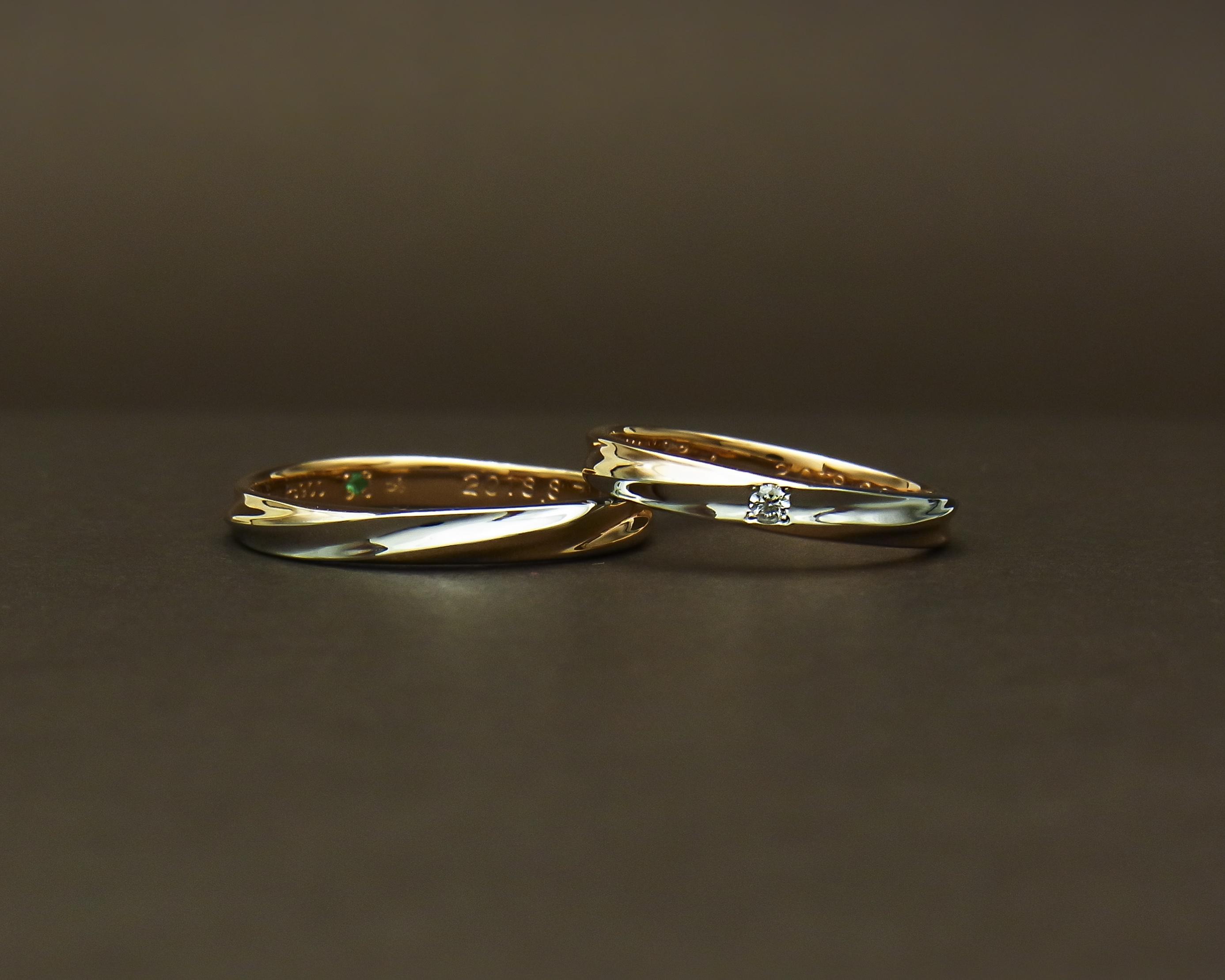Pt/PG 結婚指輪