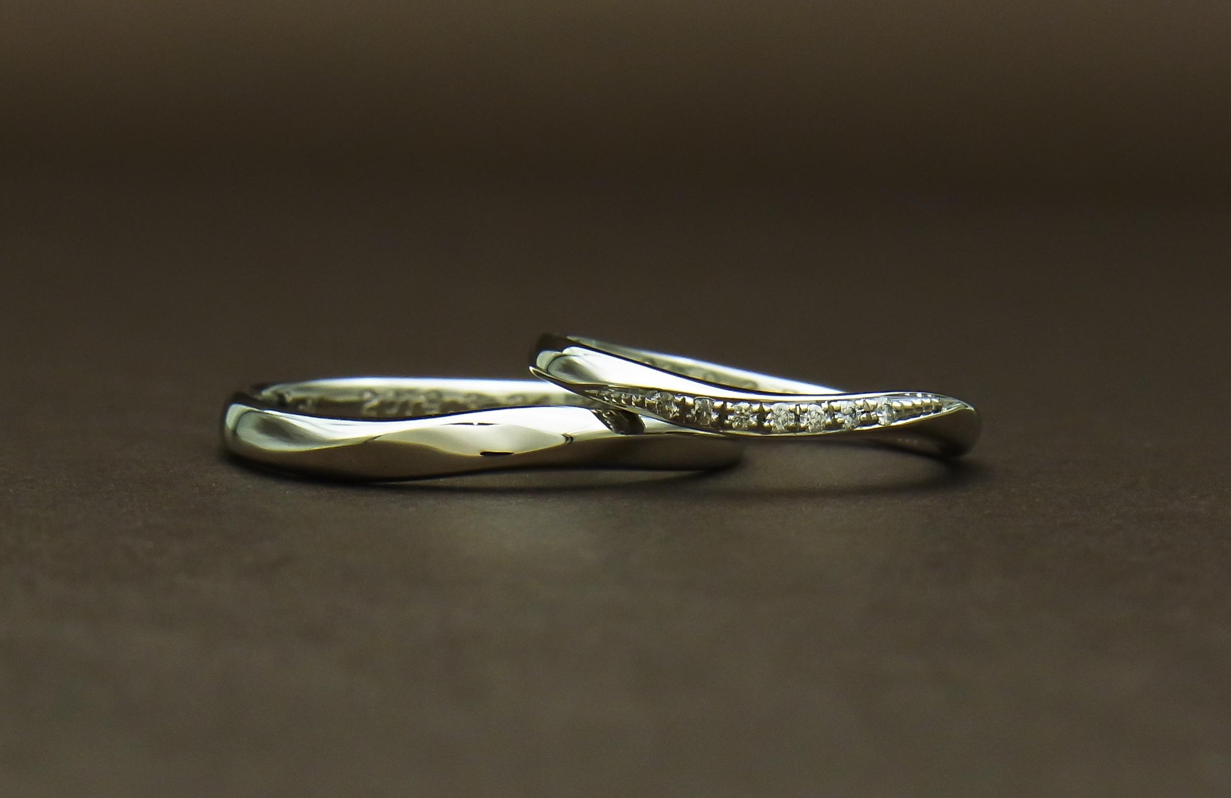 結婚指輪 ウェーブ